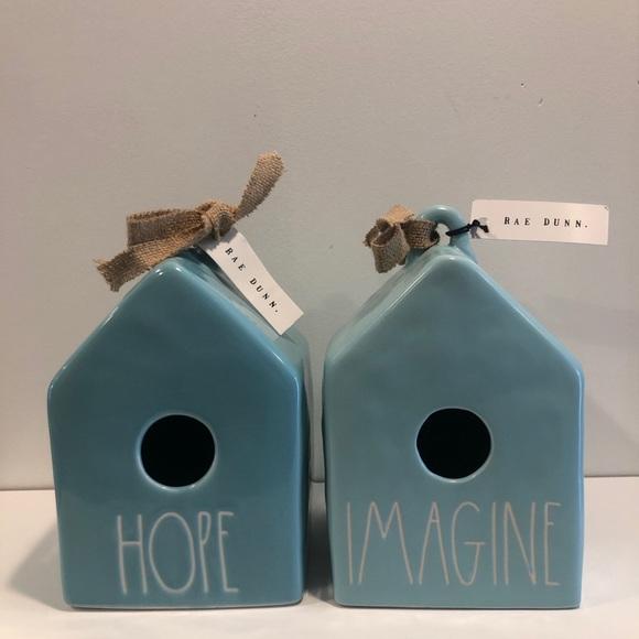 Rae Dunn Birdhouse Set Hope Imagine